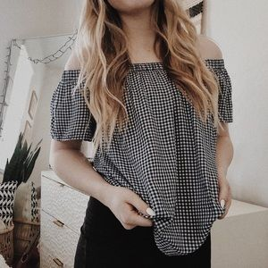 MOSSIMO Gingham Strapless Top